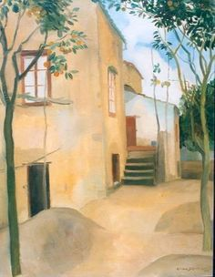 Gerrit Willem van Blaaderen (Nieuwer-Amstel (Amstelveen) 1873-1935 Bergen (N.H.)) Huis in Italië - Kunsthandel Simonis en Buunk, Ede (Nederland).