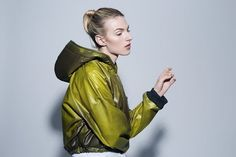 Rain coat womens coats color changing parka oversized by Cntrl Coats For Women, Color Change, Parka, Camouflage, Hooded Jacket, Rain Jacket, Raincoat, Cool Stuff, Yellow