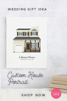 Are you attending a wedding soon and want to get the Bride and Groom a sentimental gift on their special day? Shop our custom house portrait for the perfect gift that will leave the couple shocked. #weddinggiftidea Wedding Illustration, Portrait Illustration, Art Deco Wedding, Wedding Paper, Handmade Wedding, Wedding Gifts, Family Portrait Drawing, 10th Anniversary Gifts, New Homeowner Gift