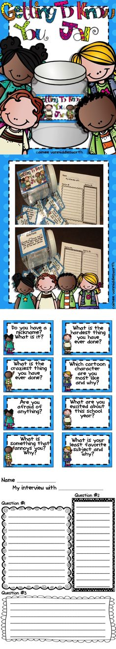 A great getting to know you activity for back to school! Use in literacy rotations. Give students the questions the day before so they can think about their answers. Love this for when we are introducing students to reading rotations! Get To Know You Activities, First Day Of School Activities, 1st Day Of School, Beginning Of The School Year, School Community, Classroom Community, Pergola Patio, Small Pergola, Modern Pergola