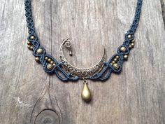 "Mikro Macrame Halskette Elfen Moon Custom Reihenfolge Schmuck Halskette Boho Macrame Halskette Pixie Fairy ""Zigeuner"" Boho böhmischen microm..."