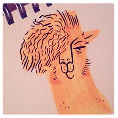 Art school #llama #feedtheanimalspdx #doodles #ink #Illustration #pdx