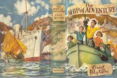 The Ship of Adventure by Enid Blyton - and all the EB books! Barbie Miniatures, Dollhouse Miniatures, Enid Blyton Books, Minis, Dollhouse Accessories, Vintage Children's Books, Children's Book Illustration, Mini Books, Cover Art