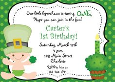 St Patricks Day first birthday party by TheButterflyPress on Etsy, $10.00