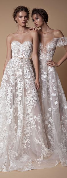 Dreamy wedding dresses from @berta - the new MUSE collection is perfect for modern romantics.