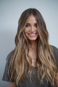"""Johnny Ramirez specializes in """"lived in color"""" - a subtle enduring way of highlighting your hair that neither balayage nor ombre for Blondes, Brunettes, Red Heads. Brown Hair Balayage, Blonde Hair With Highlights, Brown Blonde Hair, Hair Color Balayage, Blonde Honey, Red Highlights, Ombre Hair, Long Bronde Hair, Bayalage Light Brown Hair"""