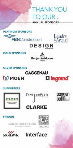 2016 ASID Gala Awards | Annual Sponsors | graphics by Shalini Sookar #newengland #interiordesign #awards #boston #asidnegala