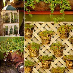 Patti Brisebois' Manitoba zone 3 garden.Patti has great displays scattered  throughout her garden and three season room.