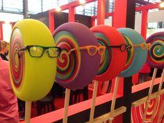 "SILMO (Optical Trade Fair), Paris, France, ""Eyewear Display Inspiration...Sweet as a Lollipop"", pinned by Ton van der Veer"