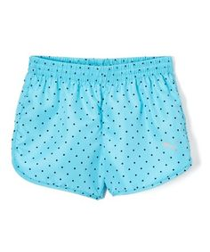 Loving this Turquoise Polka Dot Shorts - Girls on #zulily! #zulilyfinds