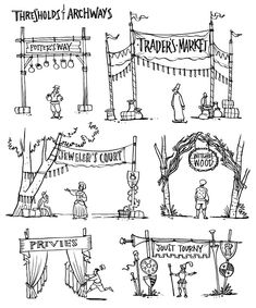 RENAISSANCE FAIRE and Themed Event Design: THRESHOLDS & ARCHWAYS