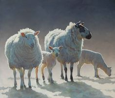 Sheep painting by Paul Burgess