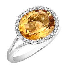 ON SALE Simple Luxury Citrine Ring set in 18 karat white gold White Gold Diamond Earrings, Coral Earrings, White Gold Diamonds, Rose Gold, Citrine Ring, Citrine Gemstone, Champagne Diamond, Heart Ring, Gemstones