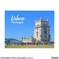 Shop Lisbon Belem Tower in Portugal Postcard created by stdjura. Historical Landmarks, Belem, Lisbon Portugal, Postcard Size, Louvre, Tower, Vacation, Gender, Building