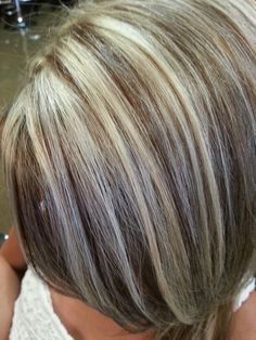 Blonde hilights and 5nn redken brown by: Jessica Smead