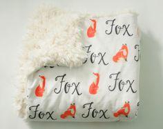 Baby Blanket - Personalized Fox Baby Blanket - Toddler Blanket - Woodland Nursery - Fox Nursery by FoxHillBaby on Etsy https://www.etsy.com/listing/276391740/baby-blanket-personalized-fox-baby