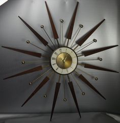 Wonderful Star burst clock. I have one hanging on my wall just like this one.