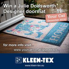 COMPETITION TIME Win a Julie Dodsworth 'Flora the Cat' designer mat at: www.yourcat.co.uk/giveaways December 2016 issue. #juliedodsworth #florathecat #yourcat www.kleen-tex.eu