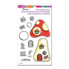 Mushroom Home Perfectly Clear Stamps and Dies Set