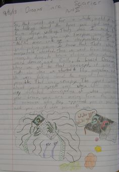 """7th grader--Tyler--won a """"Mr. Stick of the Week"""" award with this page about a slumber party experience with sleepwalkers.  Learn more about Mr. Stick at this page at my website: http://corbettharrison.com/Mr_Stick.html"""