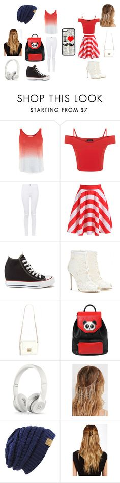 """Canada Day Outfits"" by dovepool ❤ liked on Polyvore featuring Velvet by Graham & Spencer, Parisian, Converse, Dolce&Gabbana, Les Petits Joueurs, Forever 21, Natasha, CellPowerCases and canadaday"