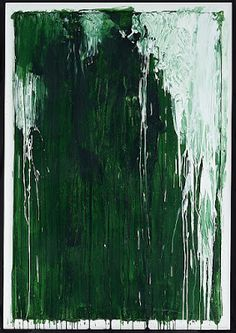 Cy Twombly Untitled III (Green Paintings) 1986