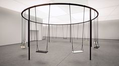 I want this in my living room. Swings-for-Caesarstone-IDS-2015-Philippe-Malouin-1