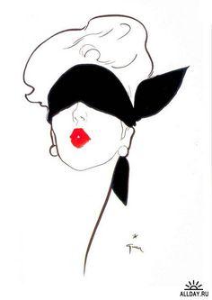 Rene Gruau - publicity pour le Rouge Baiser