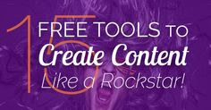 Looking for free content creation tools? If your content marketing budget is tight, these 15 free tools will help. Make PDFs, graphics, videos and more!