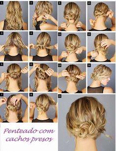 como fazer coque em cabelo curto passo a passo - Pesquisa Google
