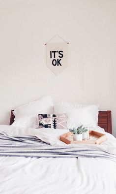 Calming bedroom decor