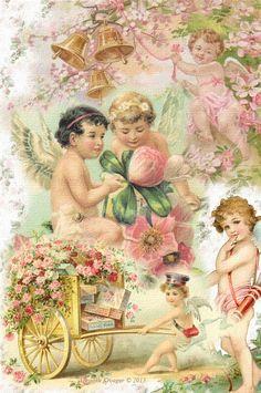 Brooke Kroeger:: Artistic Inspirations: Cupid Collage - Vintage Valentine