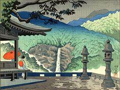 "Japanese Art Print ""Nachi Waterfall"" by Asano Takeji. Shin Hanga and Art Reproductions http://www.amazon.com/dp/B00XTISBK6/ref=cm_sw_r_pi_dp_TyXvwb17C4NYT"