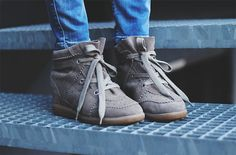 Isabel Marant Bobby sneakers... Taupe? Khaki? (kinda want both...)