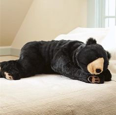 Full body length bear pillow