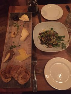 Cheese plate & shaved Brussel sprouts @ Roots, West Chester, PA