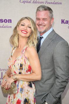 Pin for Later: Eric Dane and Rebecca Gayheart Each Have Their Own Twin in Adorable Daughters Celebrity Babies, Celebrity Couples, Hottest Male Celebrities, Celebs, Rebecca Gayheart, Skylar Astin, Mark Sloan, Eric Dane, James Maslow