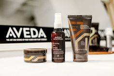 Aveda Men- Use these Fashion Week favorites to thicken and hold your style in place.
