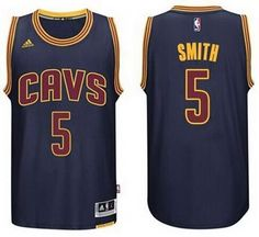 Men s Cleveland Cavaliers J. Smith Revolution 30 Swingman 2014 New Navy Blue  Jersey 749ea8846