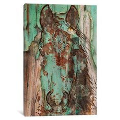 Shop for iCanvas Green Horse by Irena Orlov Canvas Print. Ships To Canada at Overstock.ca - Your Online Art Gallery Store!  - 19528544