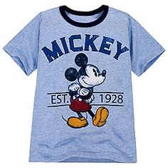 Ringer Mickey Mouse Tee for Boys $12.50
