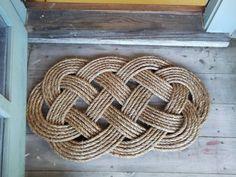 Nautical Doormat - Rope Rug - Nautical Decor