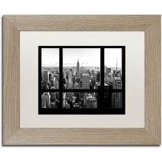 Trademark Fine Art 'View of New York City' Canvas Art by Philippe Hugonnard, White Matte, Birch Frame
