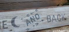 wood sign - transfer regular printer font onto wood