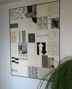 Black and White Modern Quilt Art Quilt Lap by CentralFabrications, $200.00