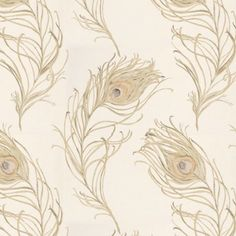 Limestone shaded peacock fabric