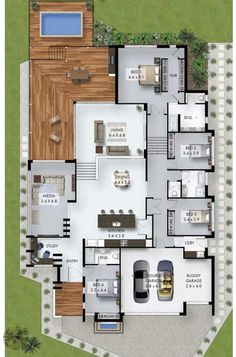 32 ideas house plans ranch 4 bedroom study for 2019 Sims House Plans, House Layout Plans, Ranch House Plans, Dream House Plans, Modern House Plans, House Layouts, Modern House Design, Sims 4 Houses Layout, Bungalow Floor Plans