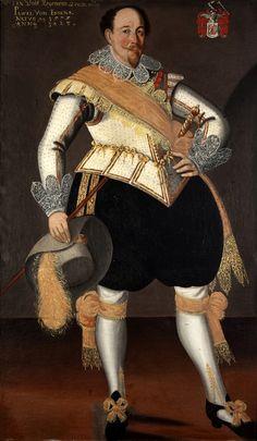 Portrait of an Officer, Pawel von Essen 17th Century Clothing, 17th Century Fashion, 16th Century, Tudor Era, Renaissance Men, Inspiration Mode, Mode Vintage, Historical Clothing, European Fashion
