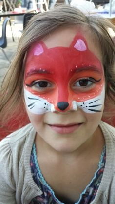 Fox face painting(definitely for Clarissa)