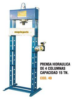 Prensa hidráulica de 4 columnas capacidad 15 toneladas